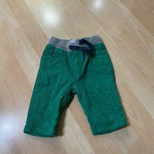 Baby Boden Baby Boys Green Corduroy Pants 0-3 M
